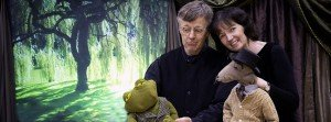 Puppeteers with Frog and Kangaroo Puppets