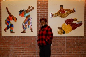 Joan Butterfield and her Works of Art