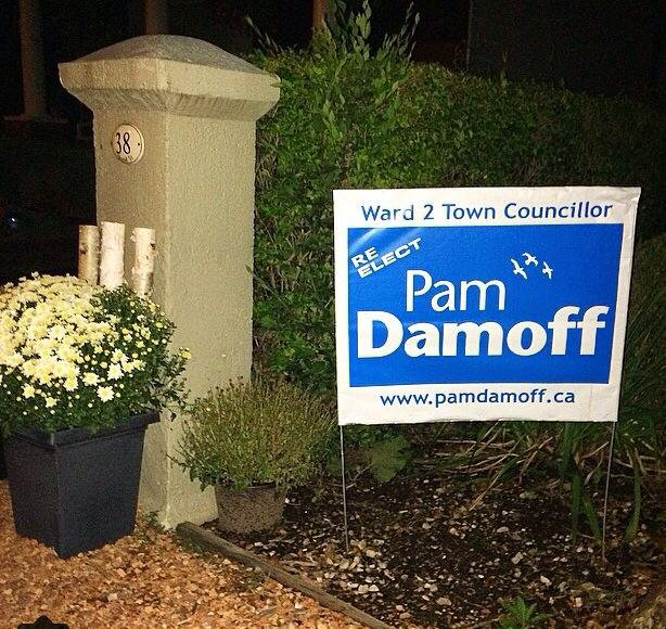 Pam Damoff Election Sign on Private Property