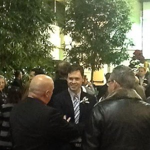 Regional & Town Councillor Tom Adams chatting with constituents at the Swearing In Reception