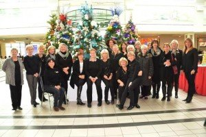 The ladies of the May Court Club of Oakville in Riocan Oakville Place for Christmas 2014 ; Photo Credit: Janet Bedford