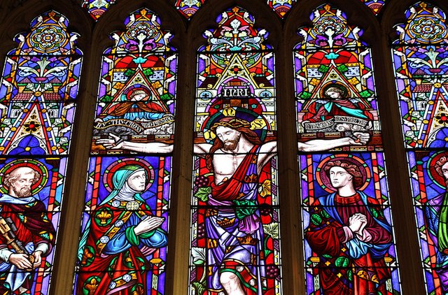 Stained Glass of Messiah