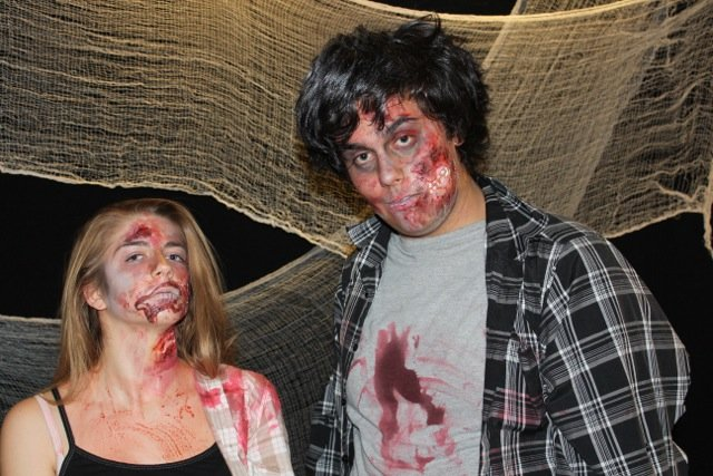 Two Teenagers made up like Zombies