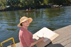 Sketching during Culture Days in Bronte Harbour Oakville