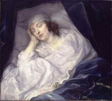 Venetia Stanley, Lady Digby, on her deathbed