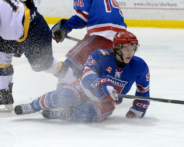 Ontario Junior Hockey League, Regular Season Game Action between Whitby Fury and Oakville Blades