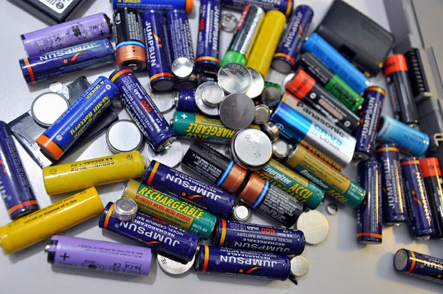 Batteries to be discarded