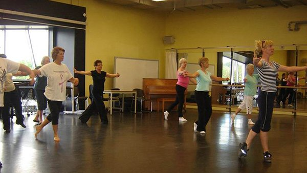 Seniors Participating in a exercise class