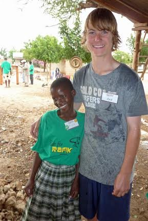 Anna and Zack Mulvale at Rafki Orphanage