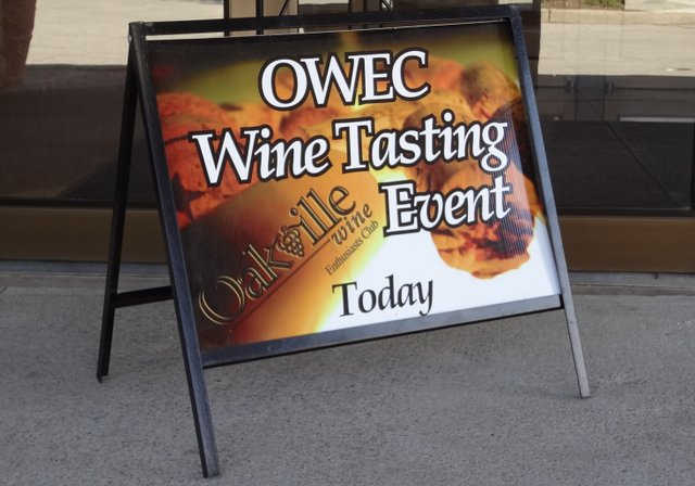 OWEC Wine Tasting Event sign