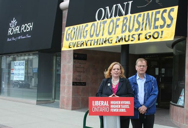 Oakville PC Candidate Larry Scott, and Nepean-Carleton PC Candidate Lisa MacLeod