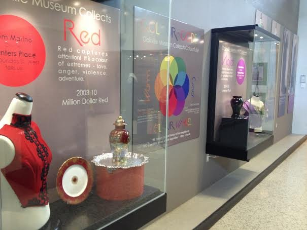 Colour Coded displays of Clothing, Jewelry  &  China in Red