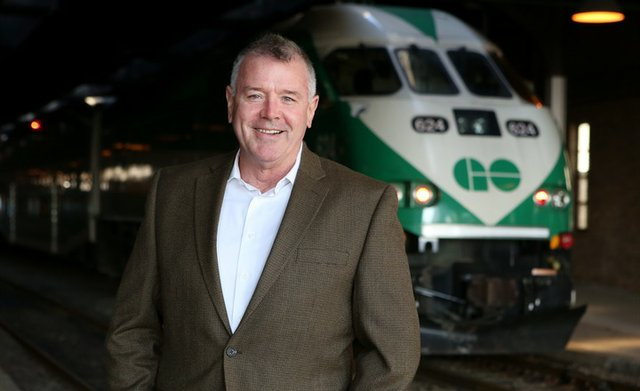 Kevin Flynn MPP, GO Train, 2013, Oakville News