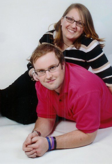 Veronica White with her husband Sean