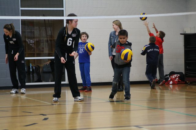 2020 Summer Camps Children playing Volleyball